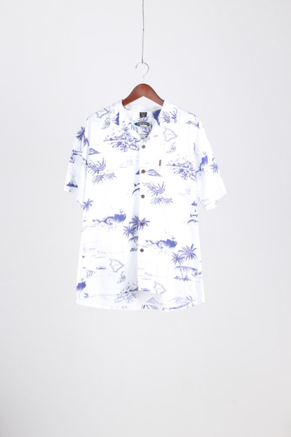 Palm Wave Aloha Shirt (2XL)
