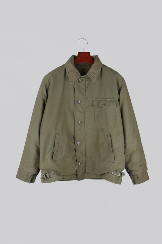 80s USN A-2 Deck Jacket (M,38-40)