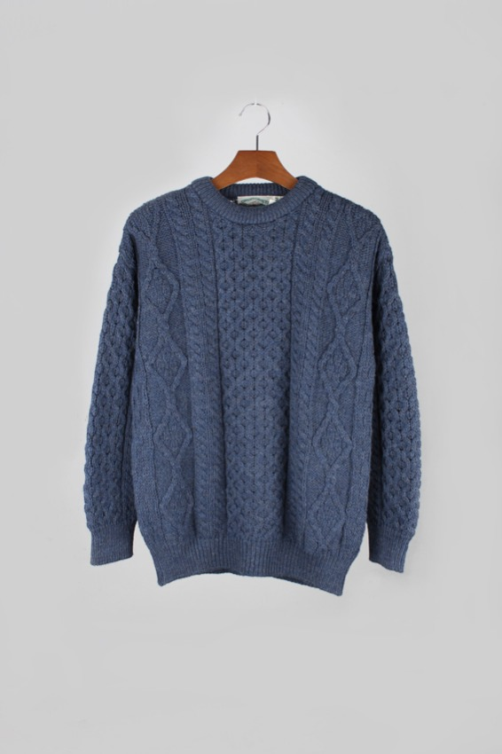 Aran crafts Fisherman Wool Sweater (M)