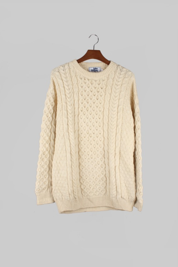 Vintage Irish Fisherman Sweater (L)