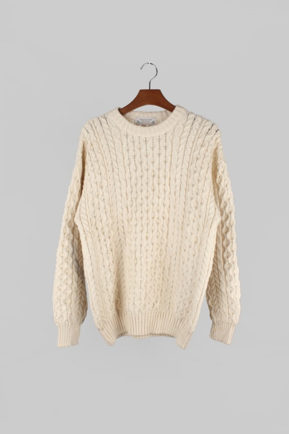 Vintage Highland home Fisherman Sweater (L)