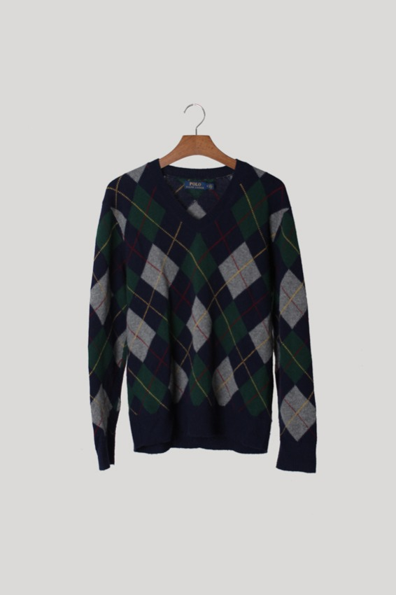 Polo by Ralph Lauren Argyle Wool Knit (M)