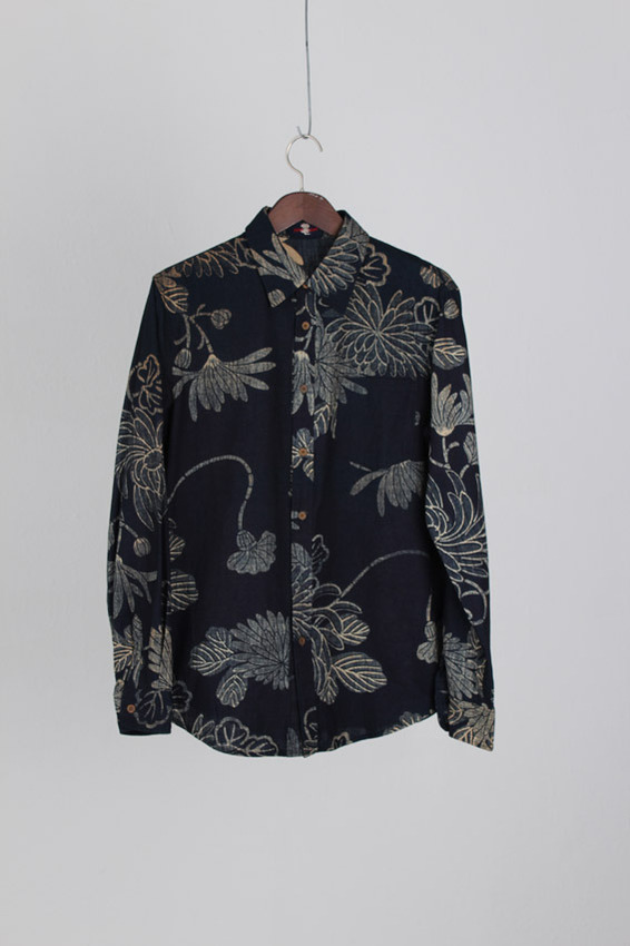 Paitas Palace Indigo Cotton Shirt