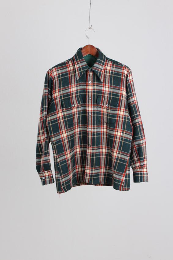 50's Herringbone tweed Wool Shirt