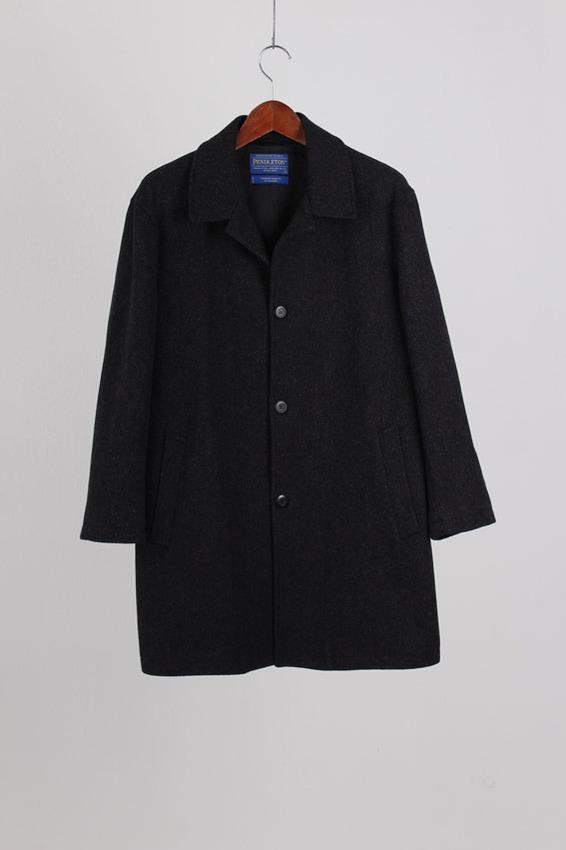 Pendleton Herringbone Tweed Coat (M)