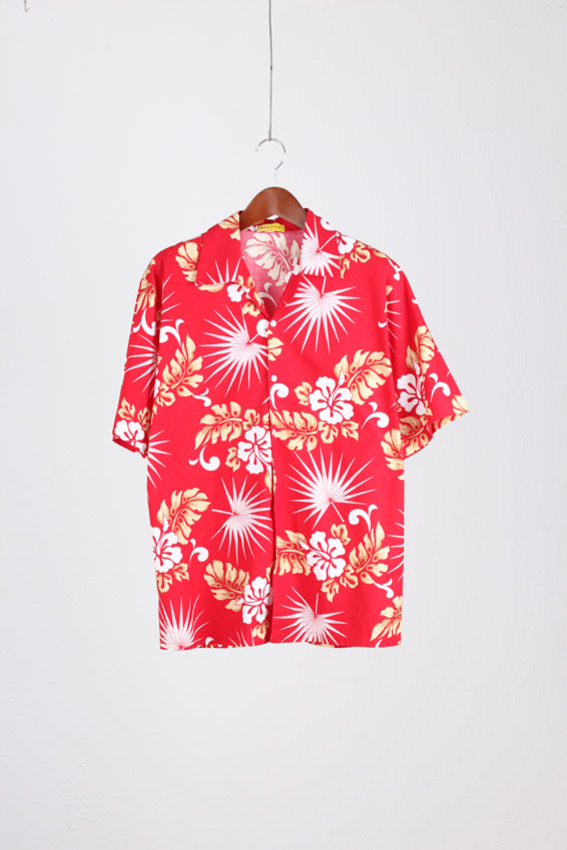RESORT WEAR Aloha Shirt (L)