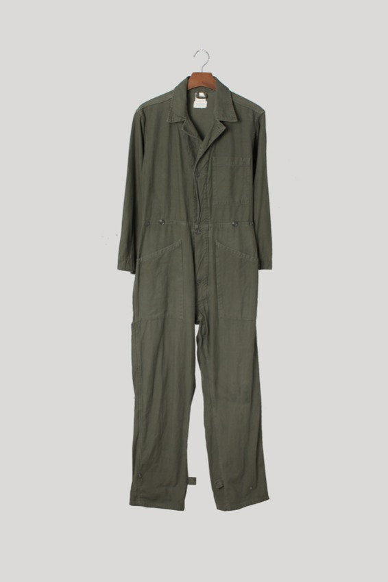 70s OG-107 Satin Cotton Coverall Suit (S)