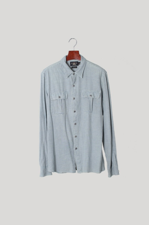 Double RL (RRL) Cotton Shirt (L)