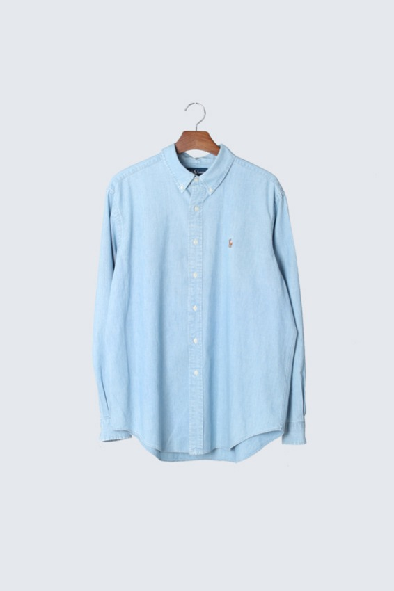 90s Polo Ralph Lauren Chambray Shirts (XL)